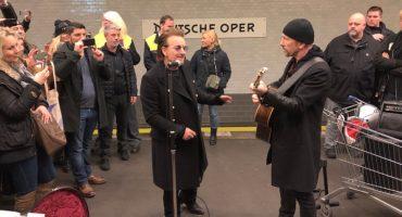 Sunday Bloody Sunday! U2 dio un mini concierto en el metro de Berlín