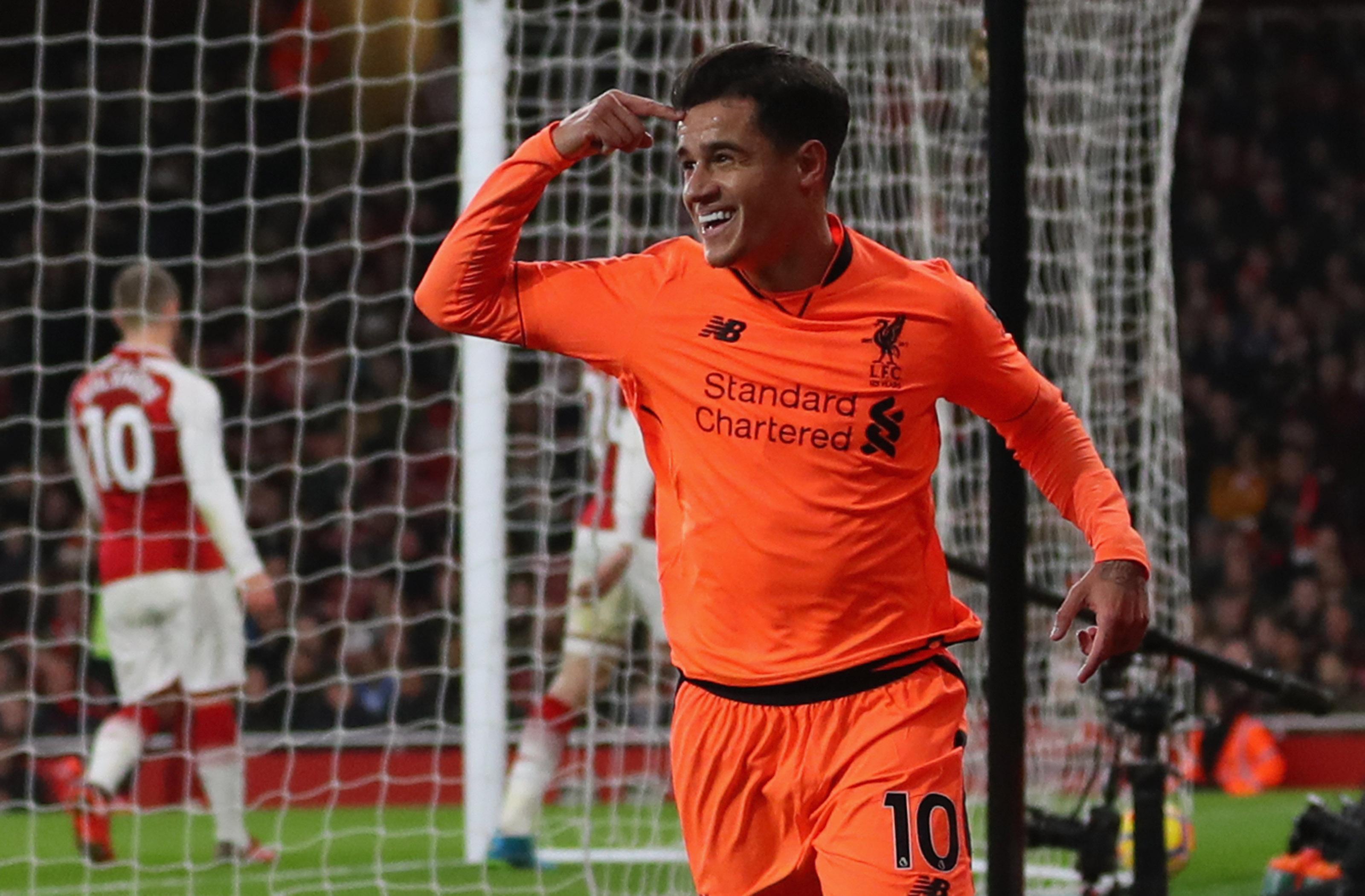 Coutinho Liverpool 2017