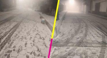 ¡Saquen los trineos porque está nevando en Cuajimalpa! ❄️