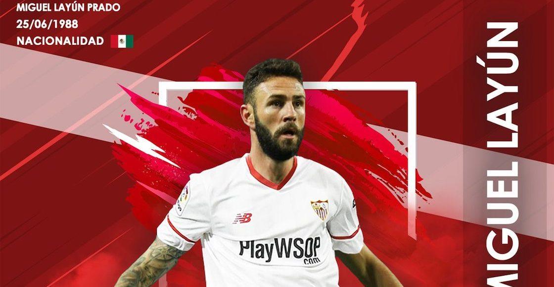Sevilla presentó a Layún con un error en la bandera