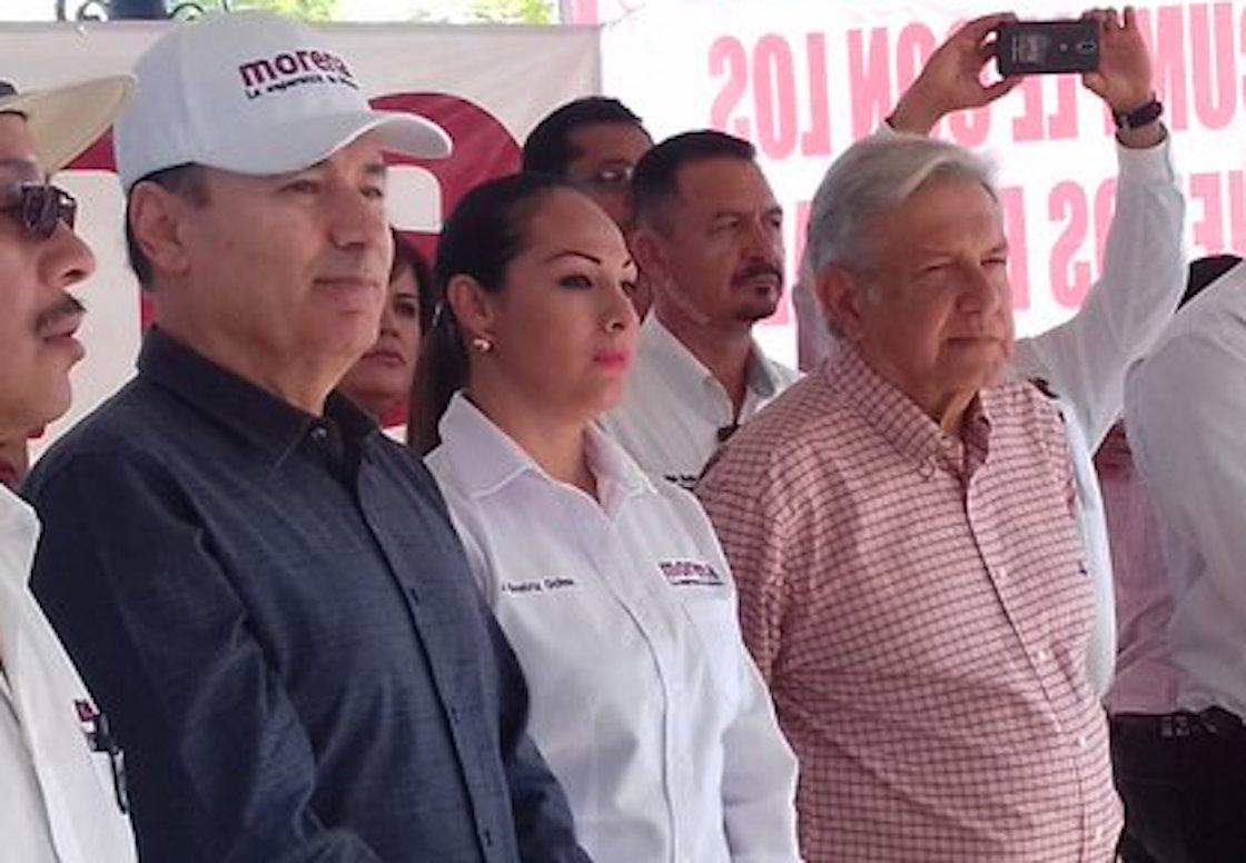 Alfonso Durazo y Andrés Manuel López Obrador