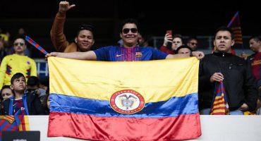 El sabor colombiano invadió el estadio del Barcelona