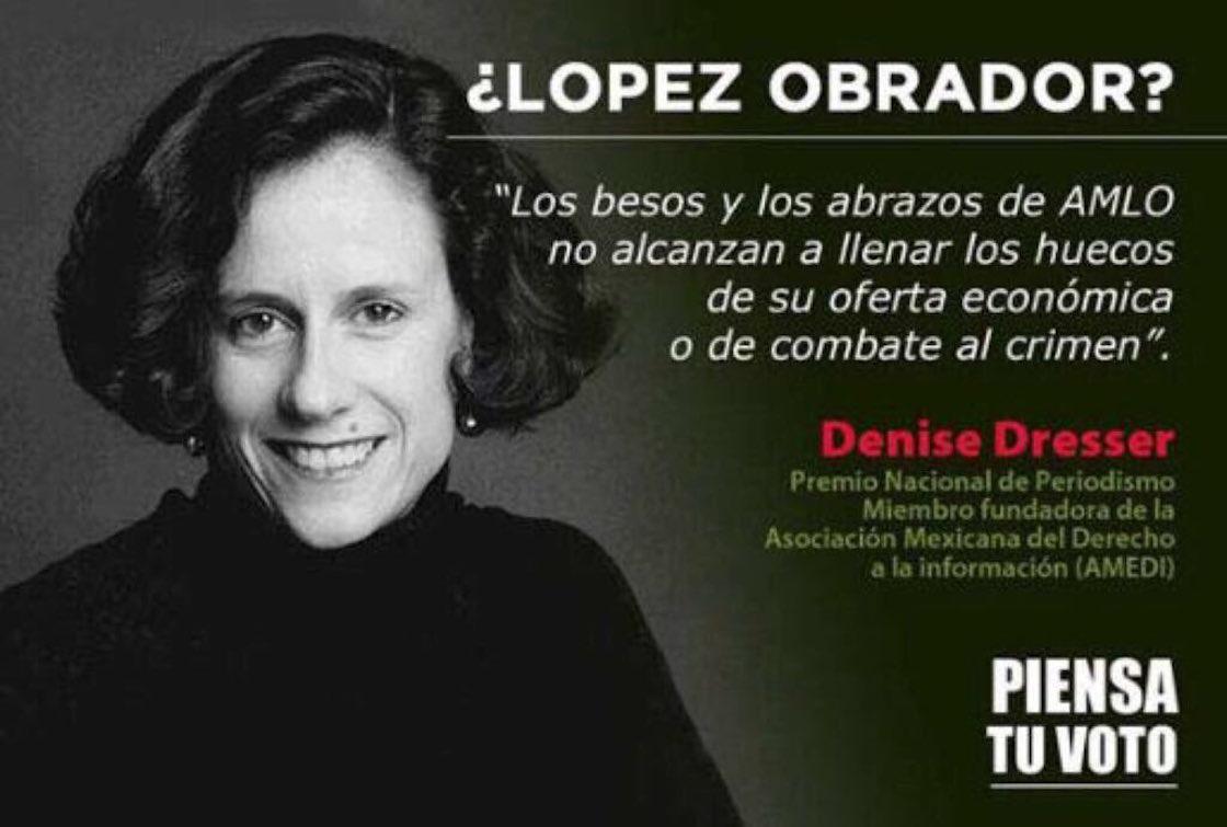 Denise Dresser se desmarca de campaña en contra de López Obrador