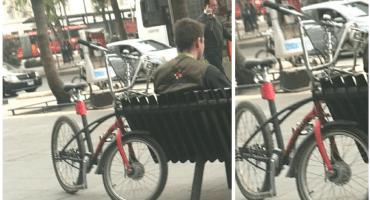 ¡Sólo en México! Detienen a ciclista que viajaba en Ecobici robada y pintada de negro
