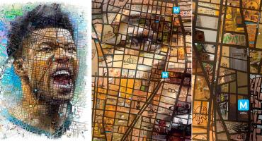 Checa el espectacular mosaico de Antetokounmpo con las calles de Atenas