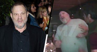 ¡Auch! Le dan un Eduardo Yañezazo a Harvey Weinstein en un restaurante 