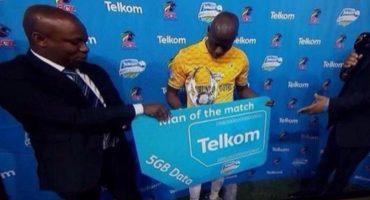 Futbolista recibió 5gb de datos por ser el jugador del partido en Sudáfrica
