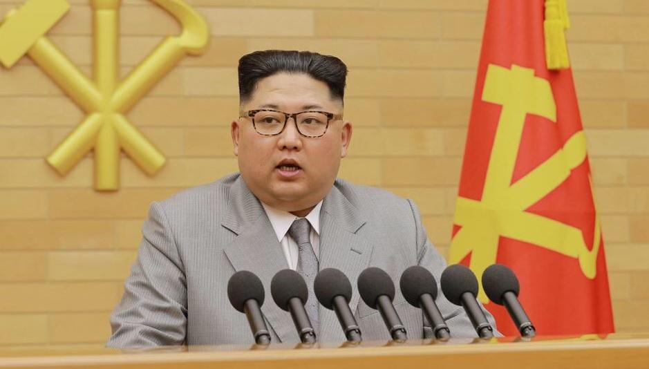Kim Jong Un en su mensaje de año nuevo