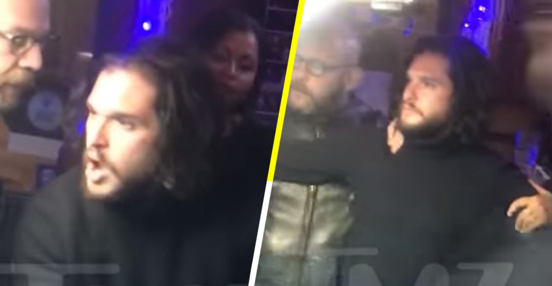 Game Of Drunks: Corren a Kit Harington de un bar por mala copa 😂