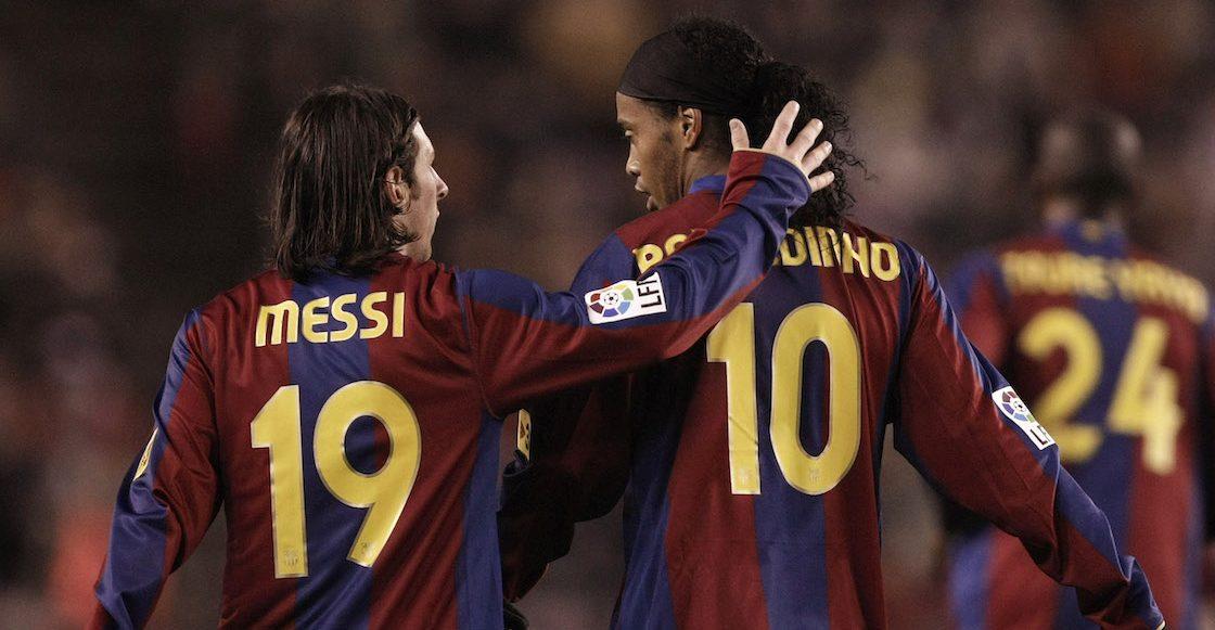 Se vale llorar: La emotiva despedida de Messi a Ronaldinho