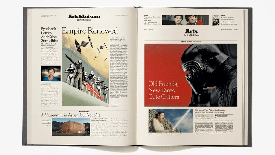 En una galaxia muy, muy lejana: Un libro del New York Times reúne sus noticias de Star Wars
