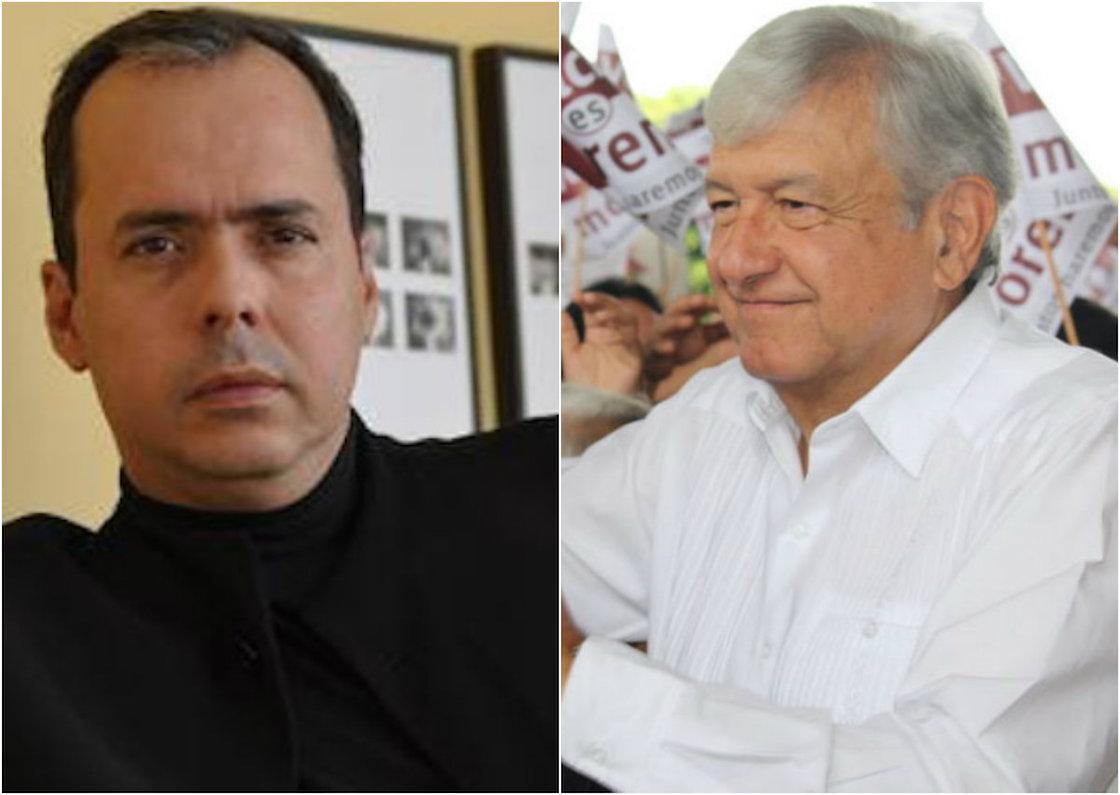 Andrés Manuel López Obrador y J.J. Rendón