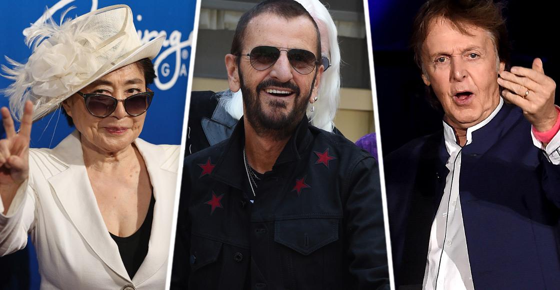 """Yoko Ono y Paul McCartney felicitan a Ringo por su título de """"Caballero"""""""