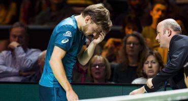 Goffin tuvo que retirarse de Rotterdam… por darse un bolazo en el ojo