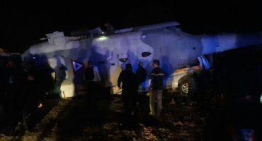 Se desploma helicóptero del Secretario de Gobernación Navarrete Prida y Alejandro Murat