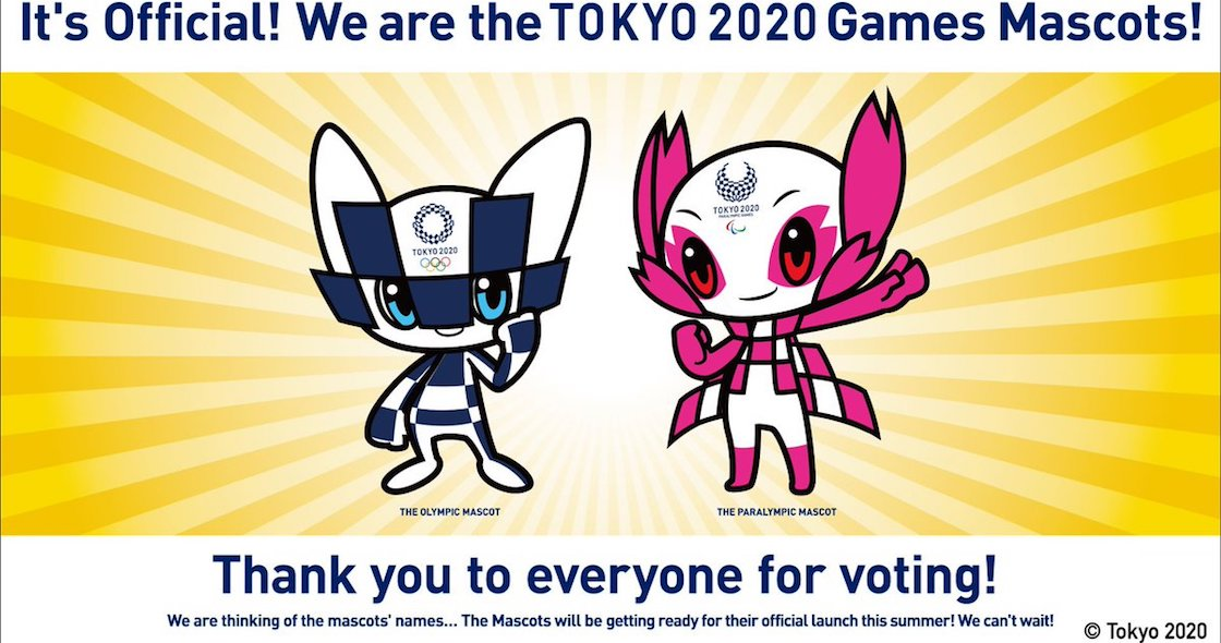 ¡Los Juegos Olímpicos de Tokyo 2020 ya tienen mascotas!