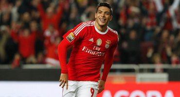 Raúl Jiménez anotó en la goleada del Benfica