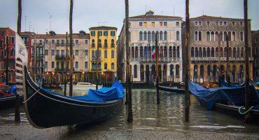 Se están secando los canales de Venecia 