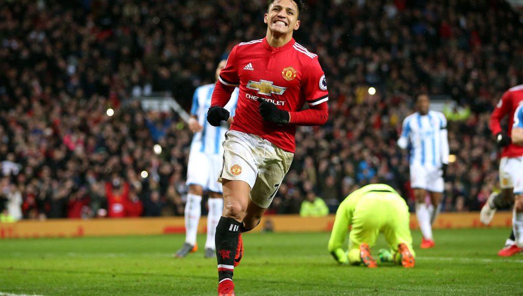 primer gol en prremier league de Alexis Sánchez en Old Trafford con el Manchester United