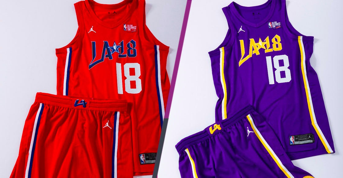 Aquí están los uniformes que se utilizarán en el All-Star Celebrity Game de la NBA 2018
