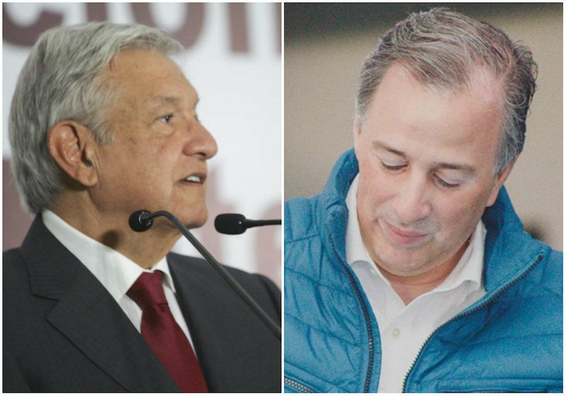 Andrés Manuel López Obrador y José Antonio Meade Kuribreña