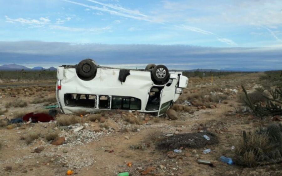 Camioneta en la que se accidentó Marichuy