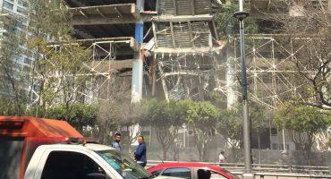 Se reporta derrumbe parcial de edificio en Ejército Nacional y F.C. de Cuernavaca en Polanco