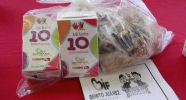 Chale: DIF de Veracruz entrega leche cortada a los niños de la sierra de Zongolica