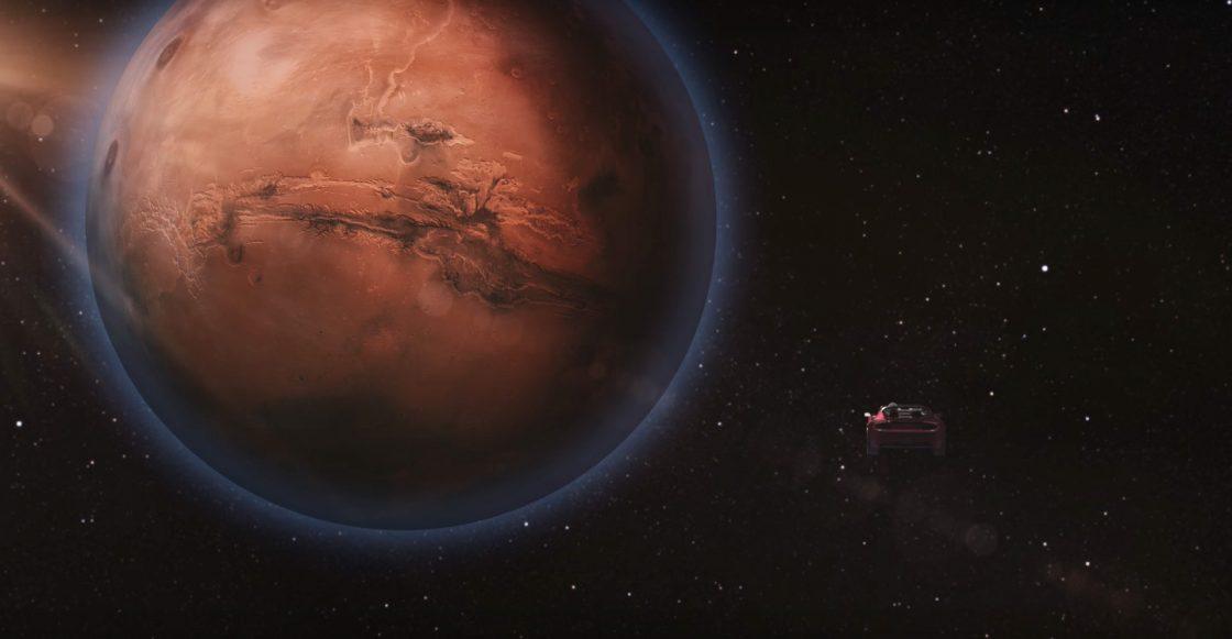 Elon Musk lanzó un auto convertible a Marte mientras escuchaba a David Bowie