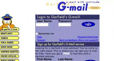 Khe?! El primer Gmail no lo hizo Google, sino... ¿Garfield?