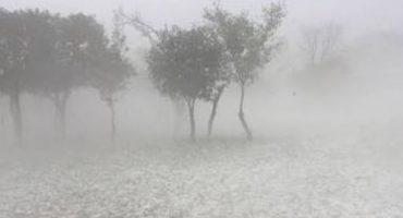 Esperaban lluvia pero no la granizada que cayó en Puebla 