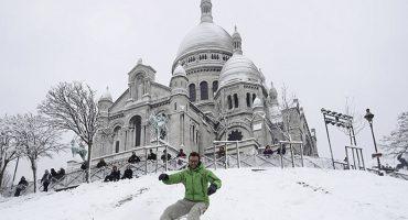 Oh la la: Así de hermosa luce la ciudad de París llena de nieve ❄❄⛄