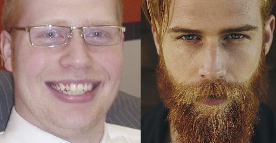 Este hombre se dejó crecer la barba y pasó de ser un vendedor de seguros a un modelo 😱