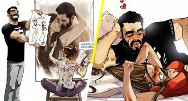 Este artista israelí plasma la relación con su esposa a través de comics ¡y somos fans!