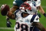 James White acerco a los Pats con un gran touchdown terrestre / Getty Images