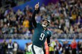 Así festejó Nick Foles su primer pase de anotación en un Super Bowl / Getty Images