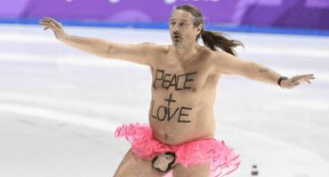 ¡Changos! Alguien invadió la pista en de patinaje en PyeongChang en tutú