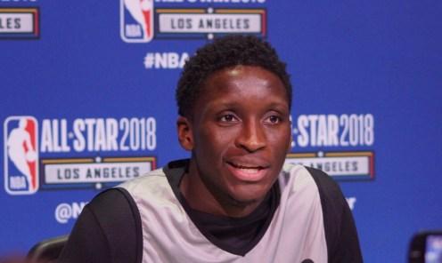Oladipo representando a los Pacers en el All-Star 2018 en LA Foto: Raúl Gutiérrez/Sopitas