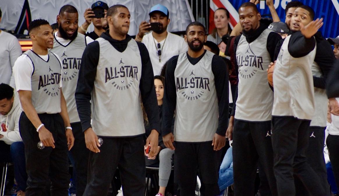 Curry, Lebron, Irving y todas las estrellas en la práctica de los All-Star 2018 de la NBA