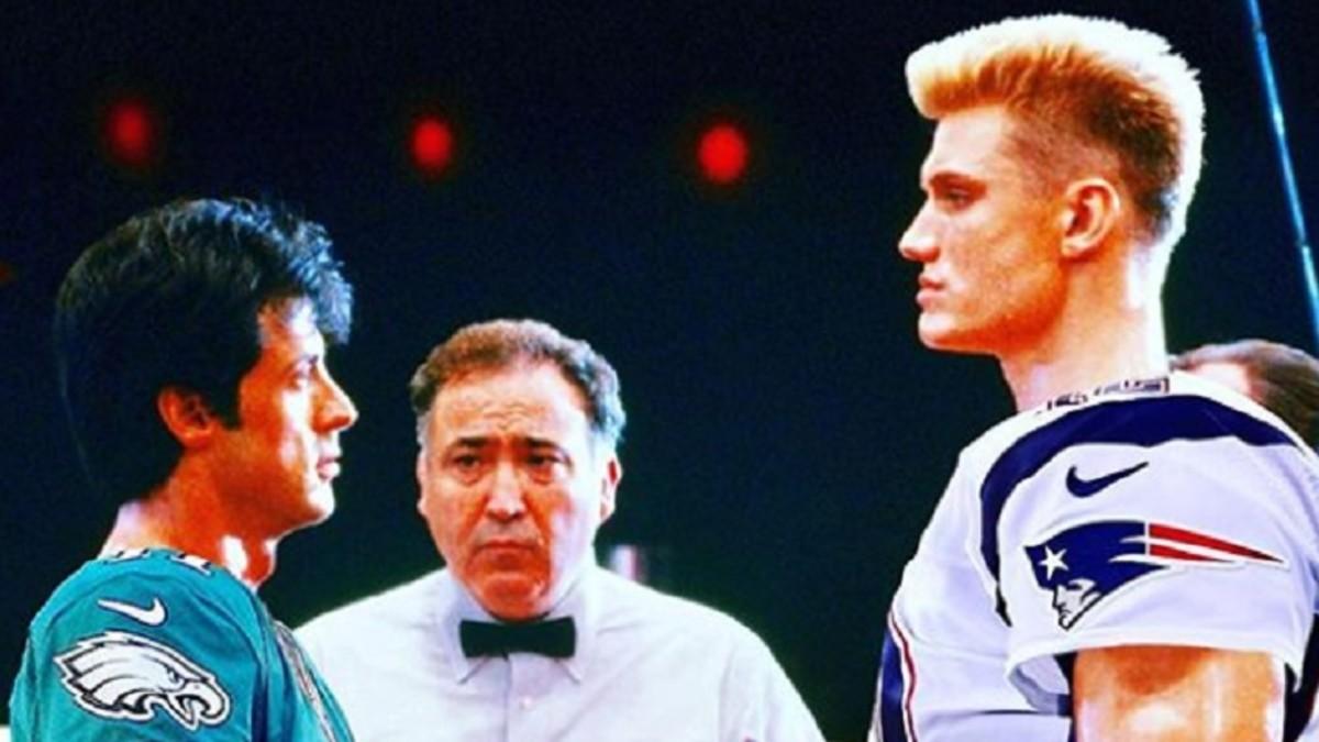 Rocky e Ivan Drago en duelo del Super Bowl LII