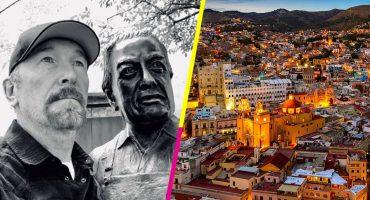 #FotoComoQueNoMeDoyCuenta: U2 comparte foto de The Edge y Diego Rivera mirando al futuro