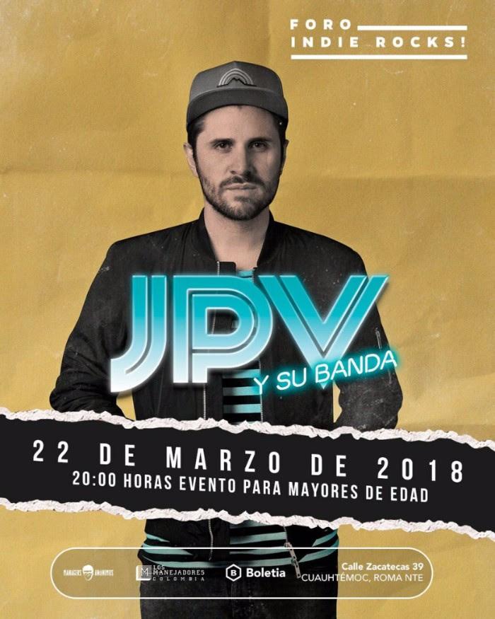 Juan Pablo Vega y su banda vendrán a la CDMX