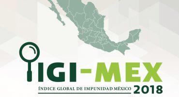 México es el 4º país a nivel mundial con mayor impunidad: IGI-MEX 2018