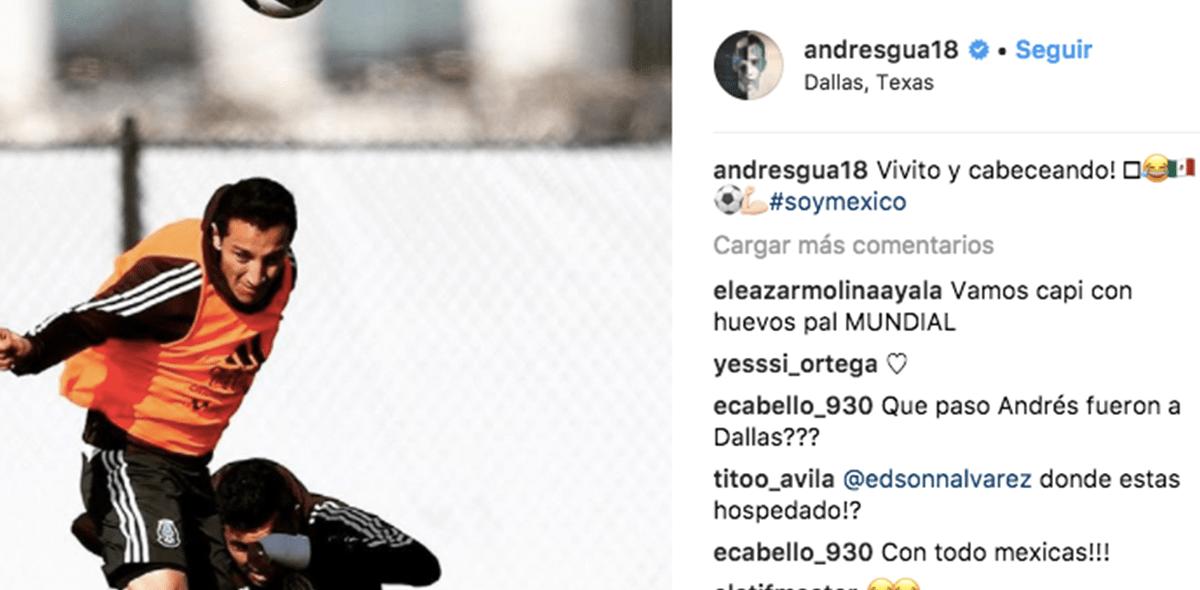 Andrés Guardado Instagram