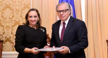 PRI acusa a Anaya con la OEA: Massieu entrega carta y expediente del caso con