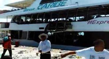 Explosión de ferry en Playa del Carmen fue intencional: PGR