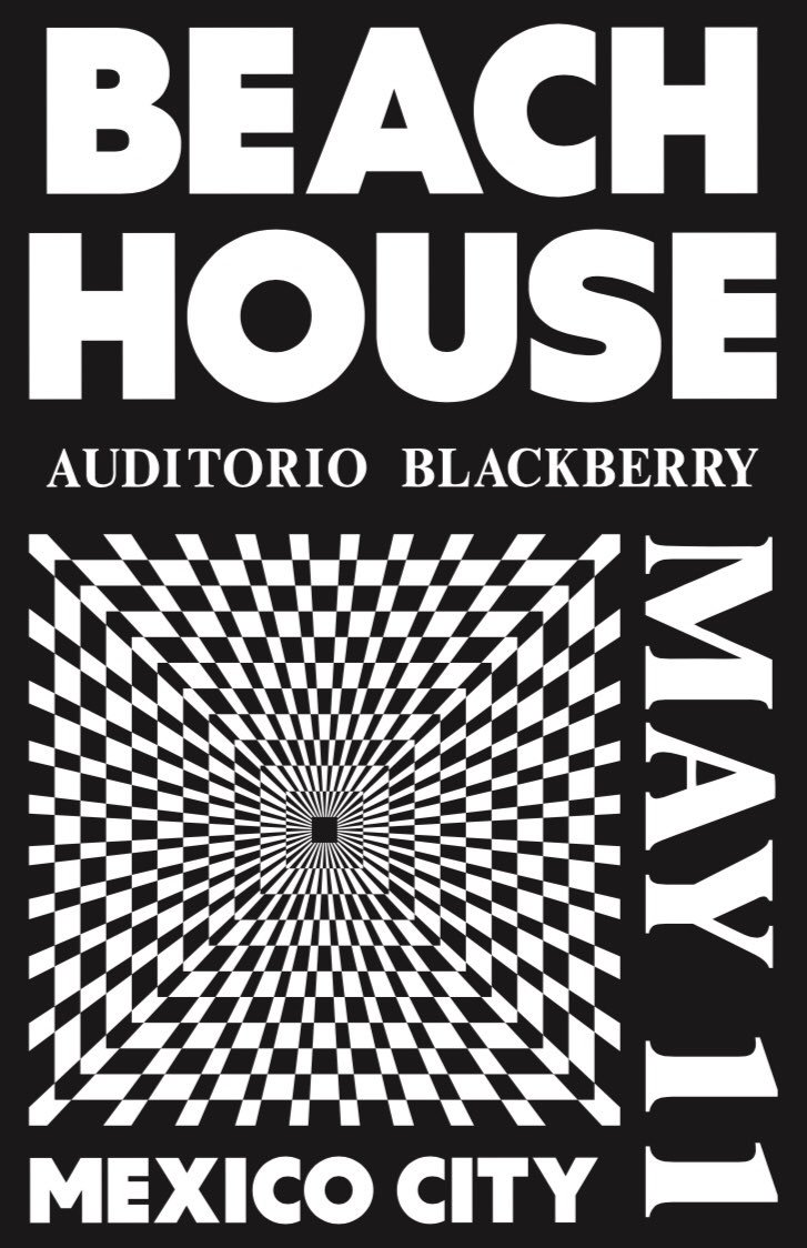 Flyer de Beach House en México