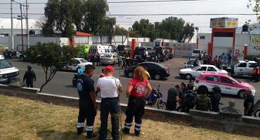 Se cayó un helicóptero en una gasera en Tlalnepantla