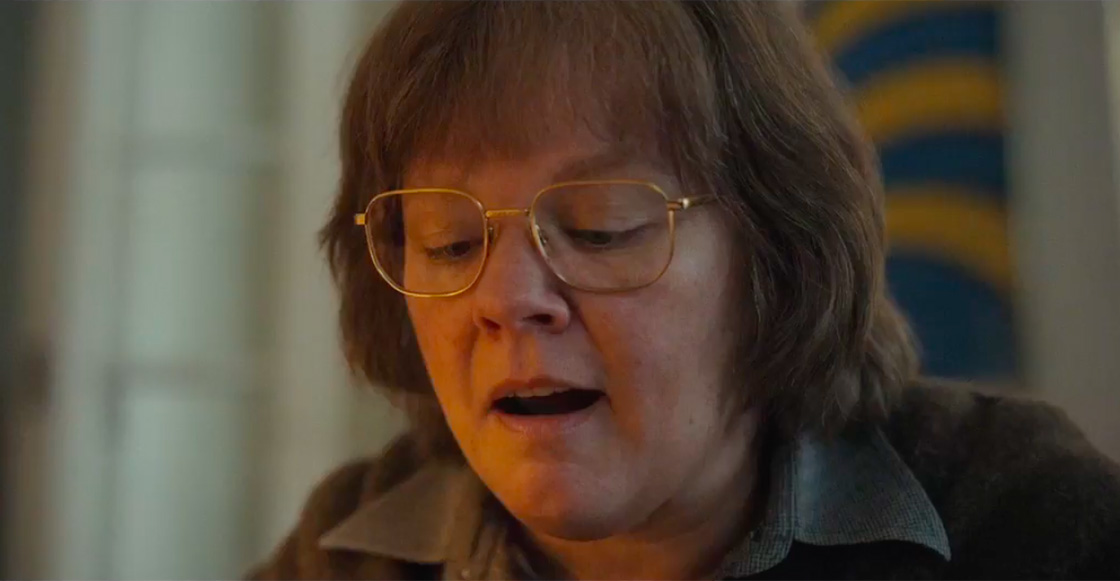Checa el divertido y dramático tráiler de 'Can You Ever Forgive Me?' con Melissa McCarthy