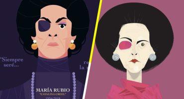Fanáticos de la villana Catalina Creel le rinden tributo con estas ilustraciones